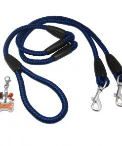 Alfie Pet by Petoga Couture - Harper Dual Leash with Photo Charm Keychain Set