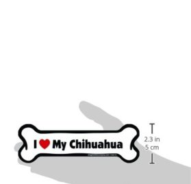 Imagine This Bone Car Magnet, I Love My Chihuahua, 2-Inch by 7-Inch 2