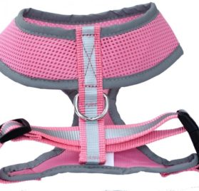 Reflective Mesh Soft Dog Harness Safe Harness No Pull Walking Warm Pet Harnesses for Dogs 2