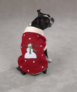 Zack & Zoey Acrylic Snow Day SmallMedium Dog Sweater, Red 2