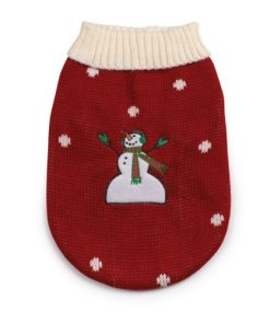 Zack & Zoey Acrylic Snow Day SmallMedium Dog Sweater, Red