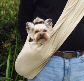 Dog Carrier Sling, Easy Breezy By Susan Lanci - Black Medium-1