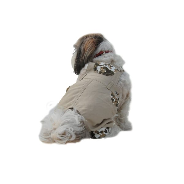 Khaki Boy Dog Overalls (Sizes Medium-XXSmall)