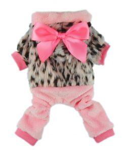 Fitwarm Pink Princess Ribbon Pet Clothes for Dog Winter Coats Hoodies Apparel-1