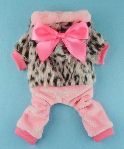 Fitwarm Pink Princess Ribbon Pet Clothes for Dog Winter Coats Hoodies Apparel-2