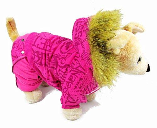 eSingyo Pet Cat Dog Fur Hooded Sweater Cotton Velvet Coat Jumpsuit Small Boy Girl Dog Clothes XS S M L XL-1