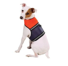 Dog Harness Vest - Mesh Reflective Orange Safety Vest with D-ring and Velcro Closures-2