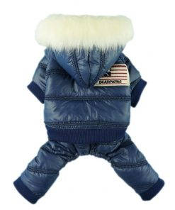 Fitwarm Stylish Faux Furred Pet Dog Coat for Winter Dog Clothes Thick Warm Jacket Hoodies-1