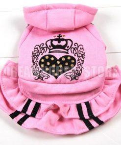 eSingyo Pet Cat Dog Pink Hooded Heart Layer eSingyo Pet Prinecess Dress Skirt Small Dog Clothes XS S M L XL-2