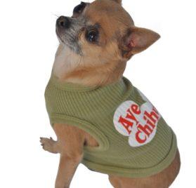 Doggie Tank Top, Aye Chihuahua, Green-1