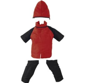Casual Canine Nylon Dog Snowsuit, X-Small, 8-Inch, Red-1