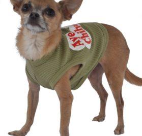 Doggie Tank Top, Aye Chihuahua, Green-2