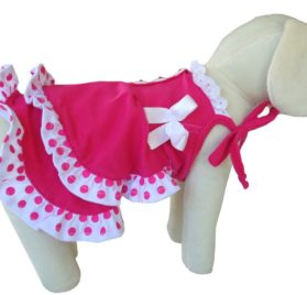 UP Collection Fashionable Summer Dress for Dogs, Fuchsia, XX-Small-1
