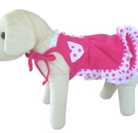 UP Collection Fashionable Summer Dress for Dogs, Fuchsia, XX-Small-2