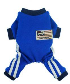 Fitwarm® Soft Fleece Dog Jersey for Pet Coat Clothes Jumpsuit Blue-1