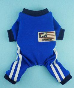 Fitwarm® Soft Fleece Dog Jersey for Pet Coat Clothes Jumpsuit Blue-2