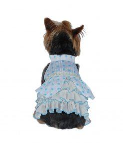Polka Dots Chiffon Dress - Pink or Blue [Various Sizes]