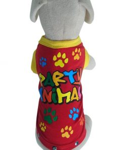 UP Collection Party Animal Tank Top for Dogs, Red-2