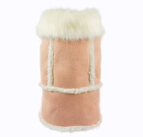 Fitwarm Pink Faux Suede Fleece Pet Coat for Dog Winter Clothes Warm Jacket-1