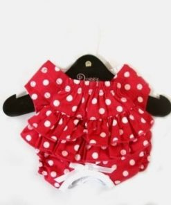 Sanitary Pants For Dogs - Red With White Polka Dots