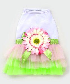 eSingyo Pet Cat Dog New Sunflower Princess TUTU Dress Skirt Cat Puppy Small Girl Dog Clothes XS S M L XL-1
