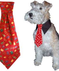 """Calvin K-nine Holiday Necktie with Christmas Presents (S) 5"""" Long-1"""