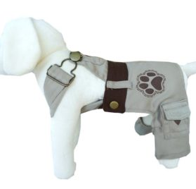 UP Collection Classic Dog Dress with Adjustable Snap Buttons, Beige, XX-Small-1