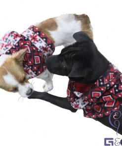 Super Cutie Pet Fleece Vest with Hood / Dog , Puppy Dressing (Christmas Hat / Santa Claus)-1