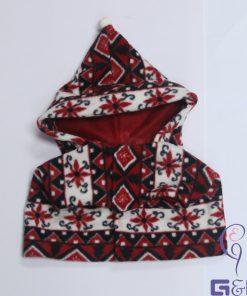 Super Cutie Pet Fleece Vest with Hood / Dog , Puppy Dressing (Christmas Hat / Santa Claus)-2