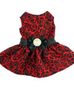 Fitwarm® Elegant Rose Bowknot Belt Dog Dress for Pet Cat Coat Vest Clothes-1
