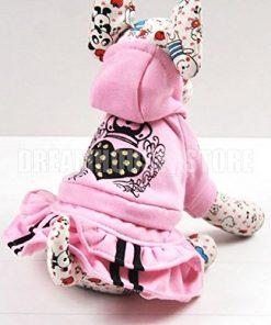 eSingyo Pet Cat Dog Pink Hooded Heart Layer eSingyo Pet Prinecess Dress Skirt Small Dog Clothes XS S M L XL-1