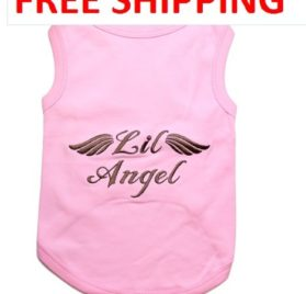 """ LIL ANGEL "" - Pink Embroidered Pet Dog Shirt - All Sizes - Free Shipping-1"