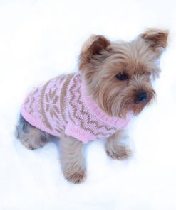 Anima Knit Snowflake Pattern Sweater - Blue/Pink (Large, Medium, Small, Extra Small)-2