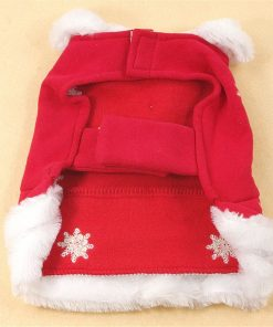 Chiqpets Red Dog Clothes with Cute Ball Snow Flower Christmas Dog Clothes Pet Apparel for Small Medium Dog Cat Chihuahua Yorkshire Poodle-2