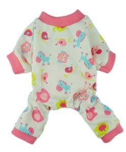 Fitwarm Cute Pink Pony Dog Pajamas Comfy Cotton Pet Pjs Shirts Clothes-1