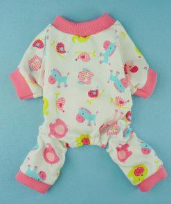 Fitwarm Cute Pink Pony Dog Pajamas Comfy Cotton Pet Pjs Shirts Clothes-2
