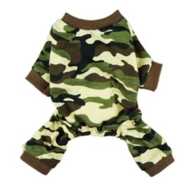 Fitwarm Stylish Army Green Camouflage Dog Shirts Jumpsuit for Pet Cat Camo Clothes Apparel-5
