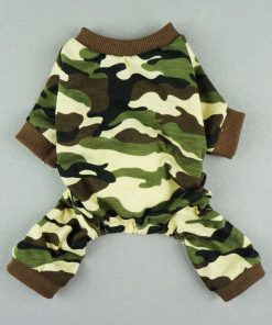 Fitwarm Stylish Army Green Camouflage Dog Shirts Jumpsuit for Pet Cat Camo Clothes Apparel-4