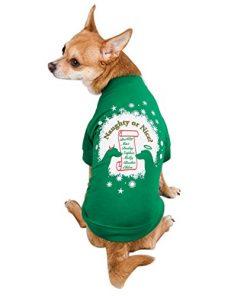 Zack & Zoey Naughty or Nice Pet Tee Shirt - Green-1