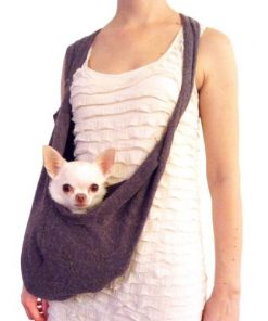 Shark Tank Sale Scarf Sling Dog Carrier with Harness Clip by Heart Pup - patent pending ... without pocket-1