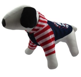 Alfie Couture Designer Pet Apparel - Sawyer Striped Hoodie-2