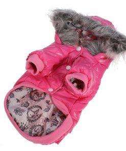 Lesypet Dog Puppy Winter Warm Hooded Coat Jacket Snowsuit Clothes Apparel-1