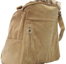 Suede Sling Bag Pet Carrier Purse