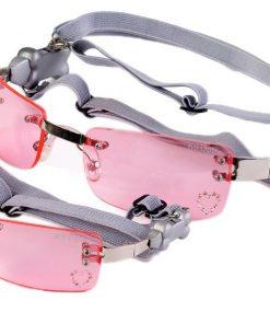 Doggles Pet Dog K9 Optix Extra Small Pink Heart Lens