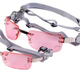 Doggles Pet Dog K9 Optix Extra Small Pink Heart Lens
