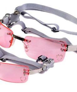 Doggles Pet Dog K9 Optix Large Pink Heart Lens