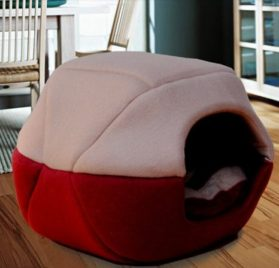 2 in 1 Pet Dog Cat House-Sofa Kennel Pet Bed Small