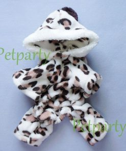 Adorable Leopard Dog Coat for Dog Hoodie Dog Clothes Soft Cozy Pet Clothes,S-4
