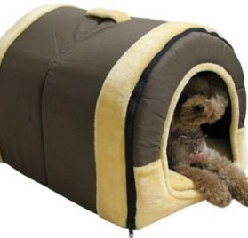 2 in 1 Pet Dog Cat Foldable House-Sofa Kennel Pet Bed Arc - 1