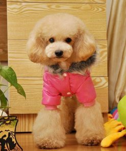 Lesypet Dog Puppy Winter Warm Hooded Coat Jacket Snowsuit Clothes Apparel-2